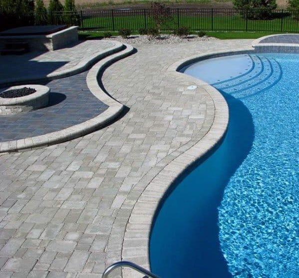 Backyard Pool Paver Patio Design Ideas