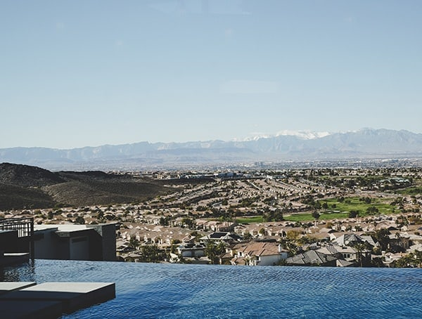 Backyard Pool View Las Vegas Nevada 2019 New American Home