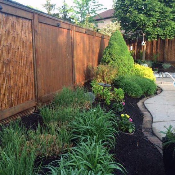 Backyard Privacy Ideas Bamboo Fence