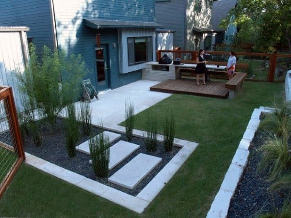 Backyard Simple Modern Landscape Design