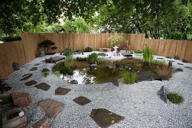 Landscape Landscape In The Summer. Landscaping With Flower Beds