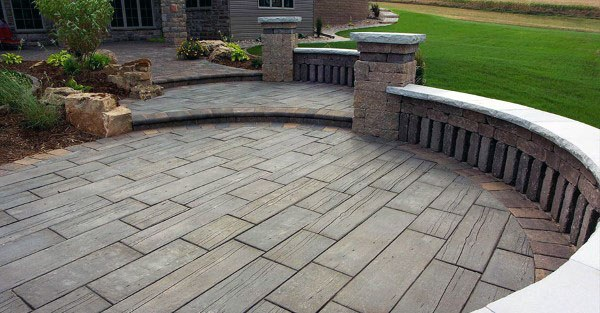 Backyard Stamped Concrete Patio Ideas