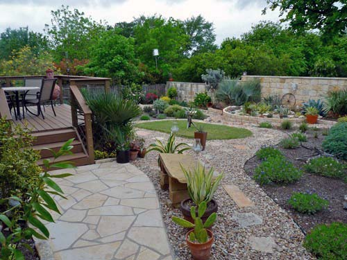 Backyard Walkway Gravel Landscaping Design Ideas