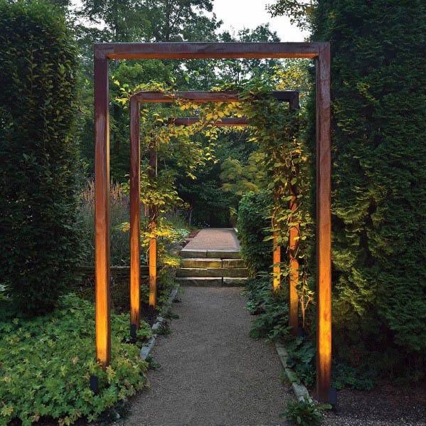 Backyard Walkway Landscape Lighting Design Inspiration