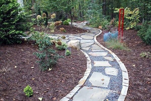 Backyard Walkway Stone Edging Ideas