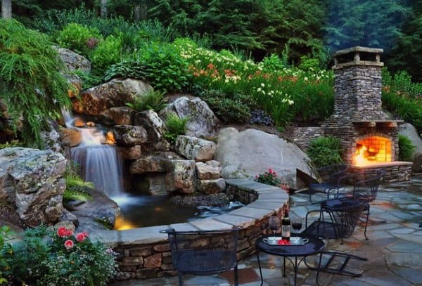 Top 70 Best Backyard Waterfalls - Water Feature Design Ideas on Small Backyard Waterfall Ideas id=52639