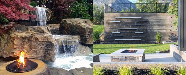 Backyard Waterfalls Water Feature Design Ideas