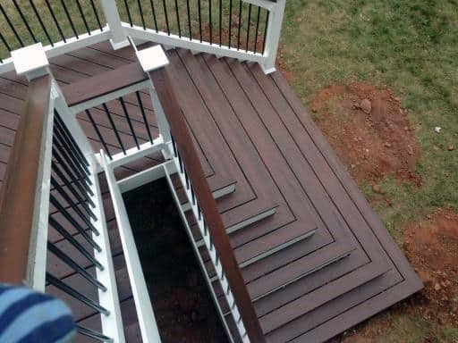 Backyard White And Brown Ideas Deck Steps