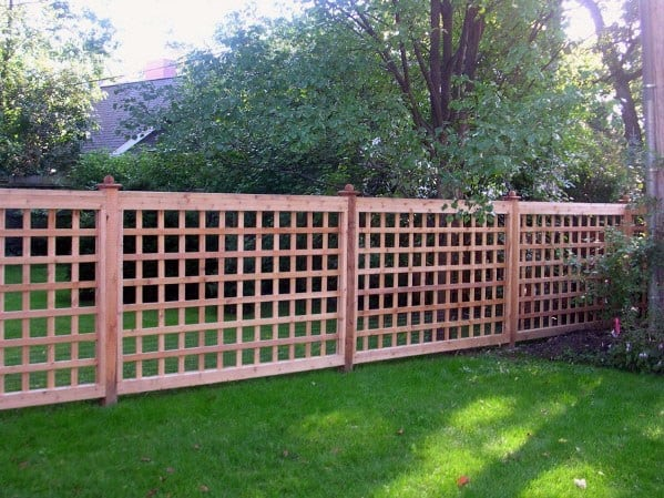Backyard Wood Ideas For Dog Fence