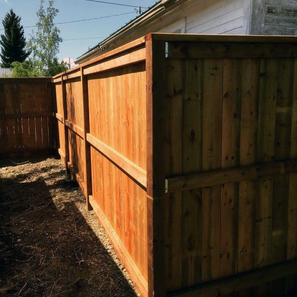 Backyard Wood Tall Dog Fence Ideas