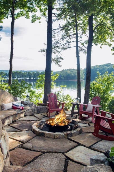 Backyard Woods Outdoor Fireplace Designs