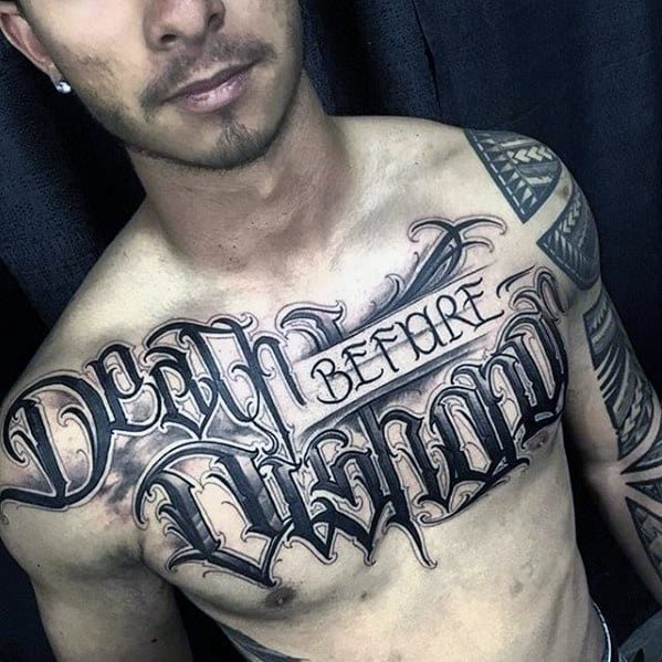 8febbdb18 60 Badass Chest Tattoos For Men - Manly Ink Design Ideas