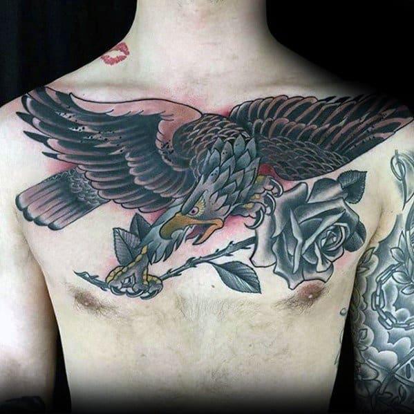 Badass Eagle Male Tattoos