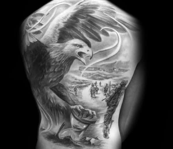 Badass Eagle Mens Tattoos