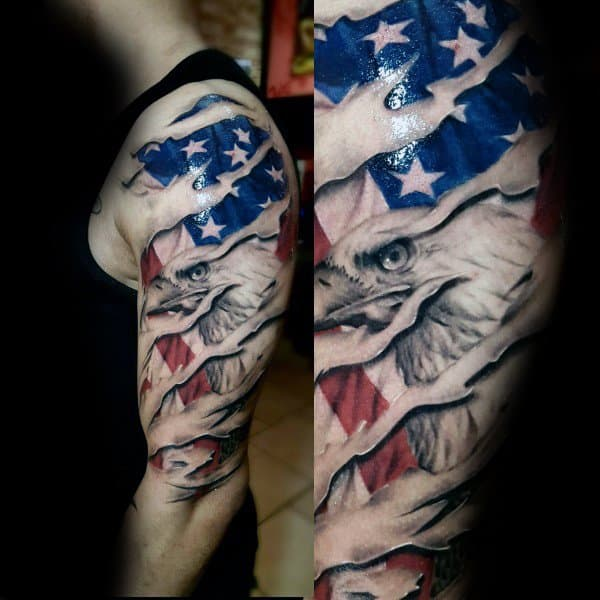 Badass Eagle Tattoo For Men
