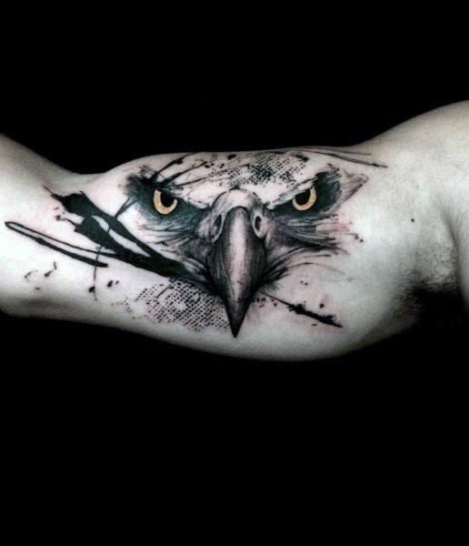 Badass Eagle Tattoo On Man