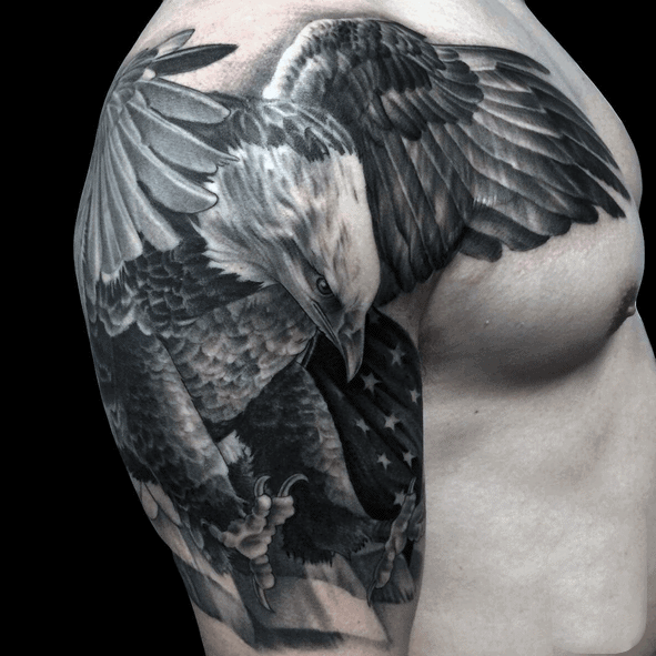 Badass Eagle Tattoos For Men