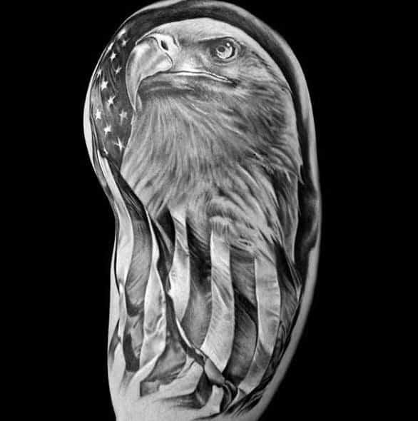 Badass Eagle Themed Tattoo Ideas For Men
