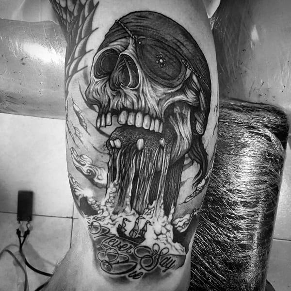 Badass Goonies Skull Mens Tattoo