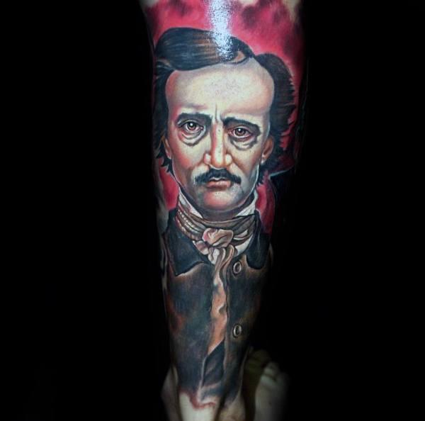 Badass Guys Edgar Allan Poe Themed Tattoos