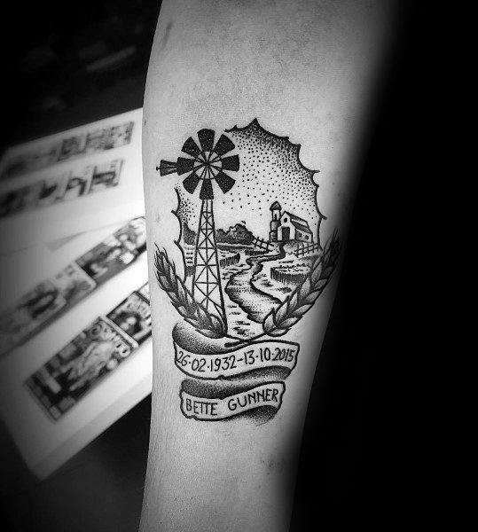 Badass Guys Farming Themed Tattoos