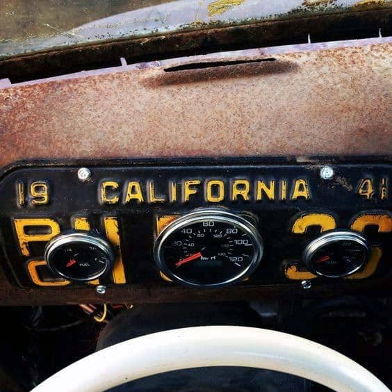 Badass Rat Rod Interior Ideas License Plate With Gagues