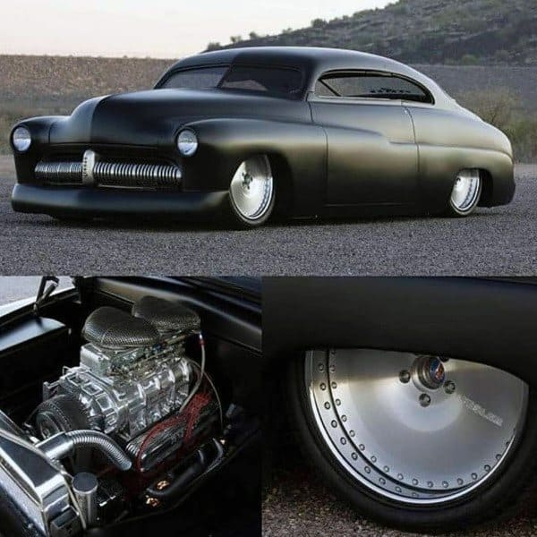 Badass Rat Rods Flat Black Paint Job With Steel Rims