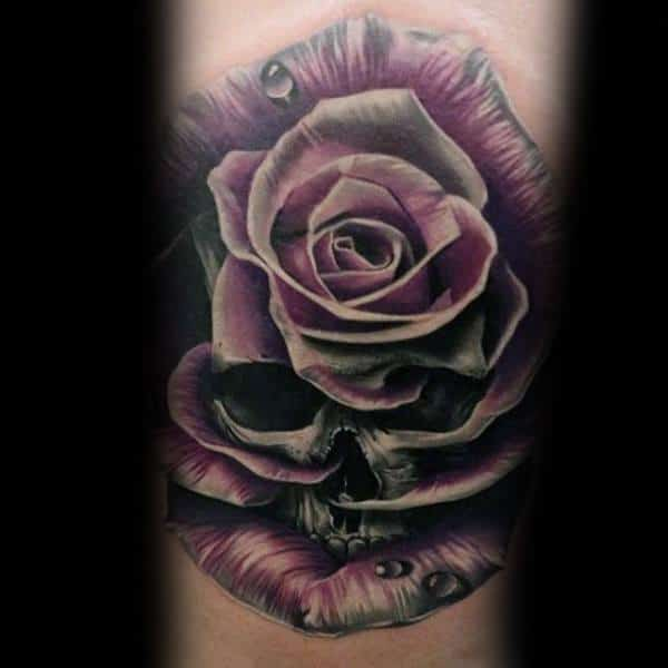 Badass Rose Mens Tattoos