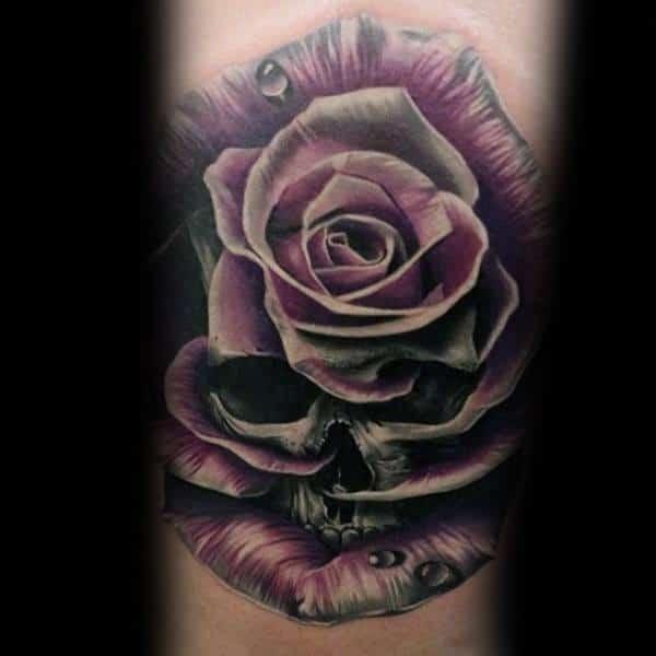 Badass Rose Mens Tattoos