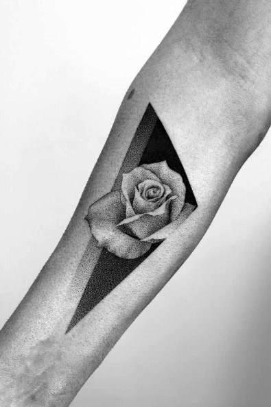 Badass Rose Tattoo Designs For Gentlemen