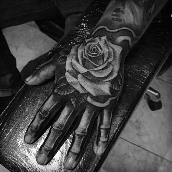 Badass Rose Tattoo Inspiration For Men