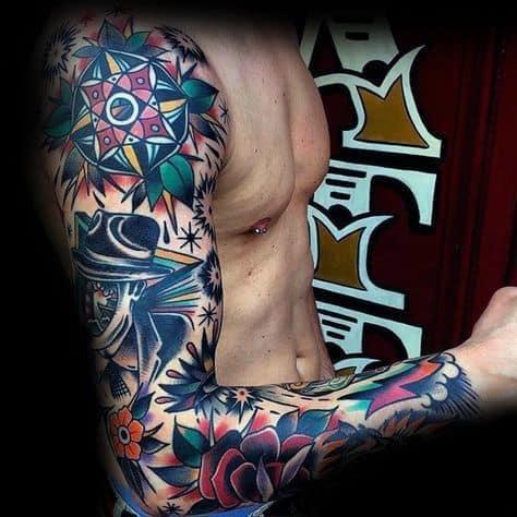 Badass Rose Tattoos For Gentlemen