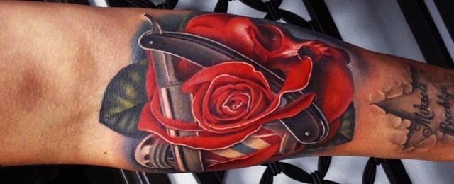 Badass Rose Tattoos For Men