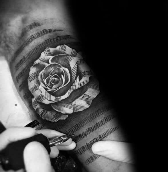 Badass Rose Themed Tattoo Design Inspiration
