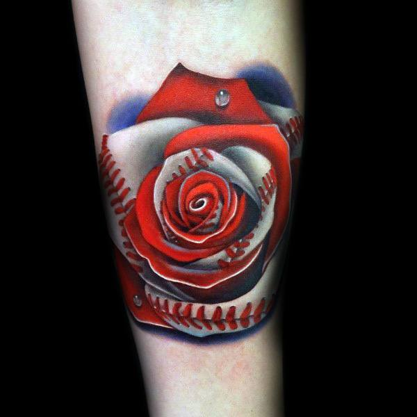 Badass Rose Themed Tattoo Ideas For Men