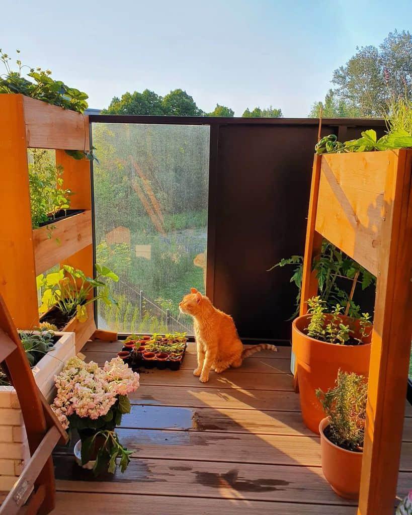 balcony rooftop herb garden ideas anna.kabe