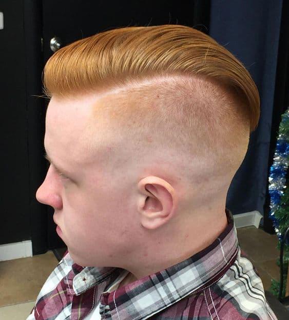 Bald Fade Combover Haircut