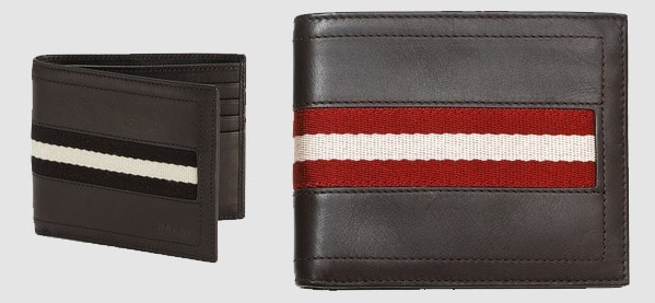 Bally Leather Bifold Men's Wallets Bilfolds