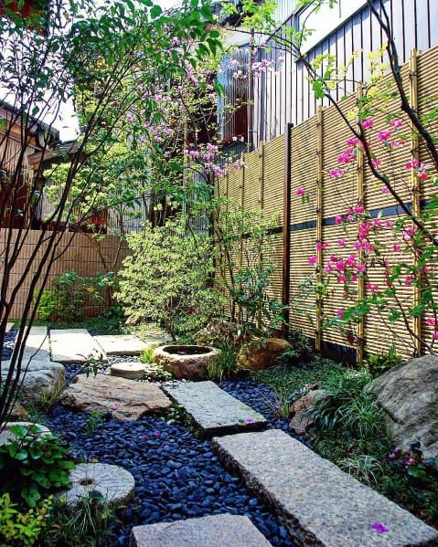 Bamboo Fence Cool Backyard Ideas