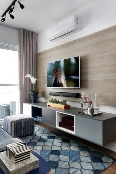 excellent living room wall design ideas | Top 70 Best TV Wall Ideas - Living Room Television Designs