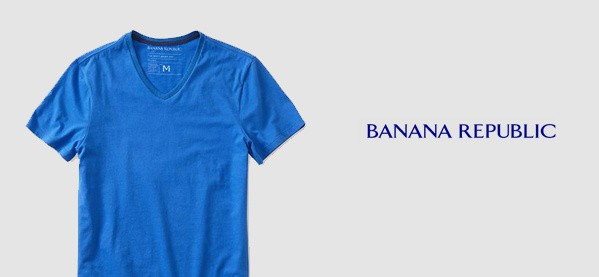 Banana Republic V Neck T-Shirts For Men