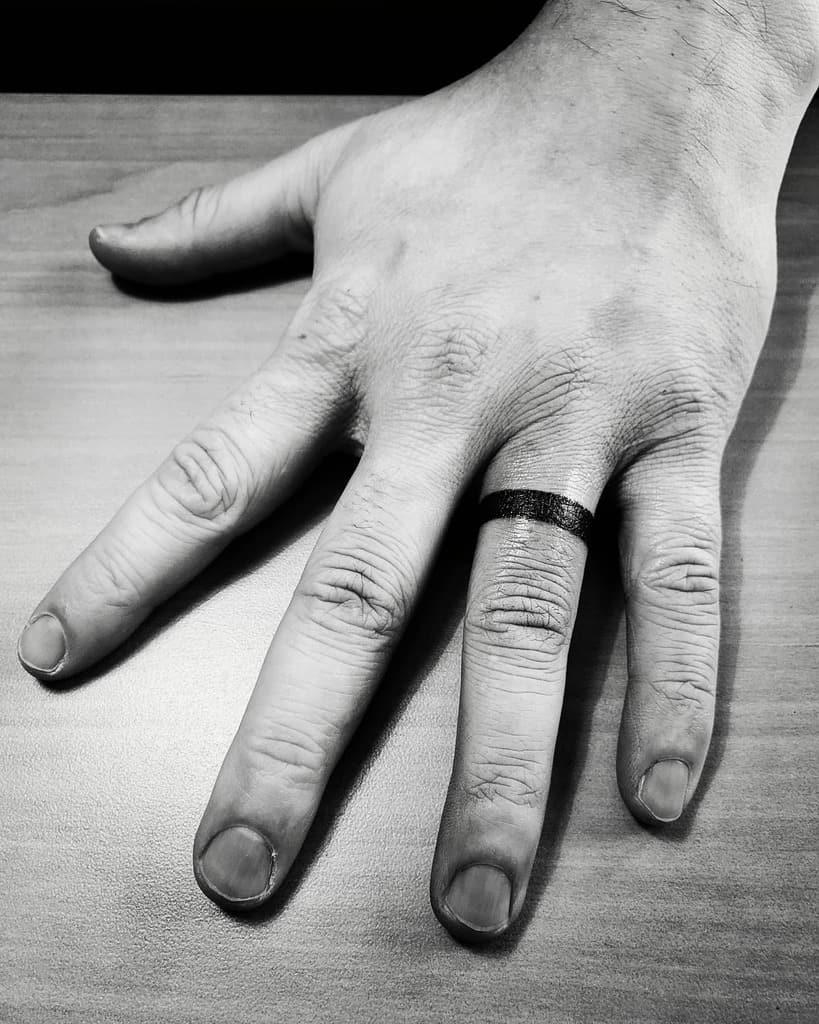 Band Wedding Ring Tattoo Acousticinkbc