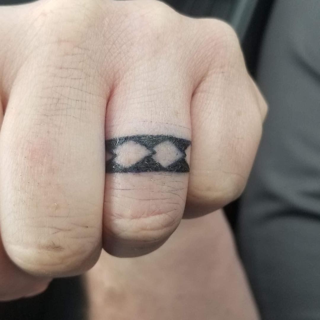 Band Wedding Ring Tattoo Shaimiira