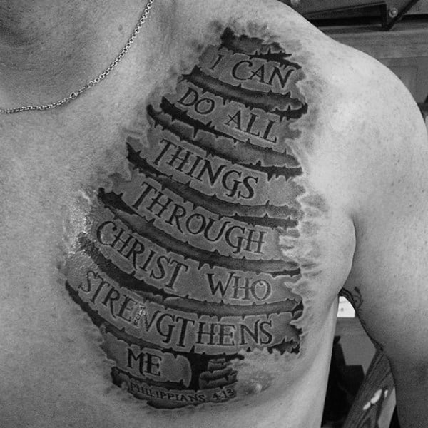 Banner Philippians 4 13 Mens 3d Tattoo Ideas