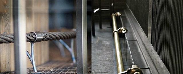 brass bar foot rail