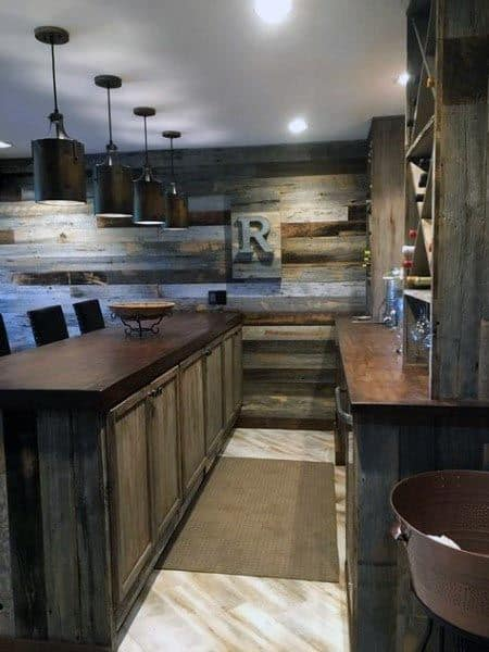 Bar Rustic Basement Ideas
