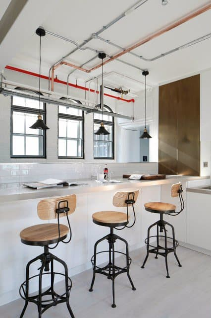 Bar Stools Industrial Interior Design