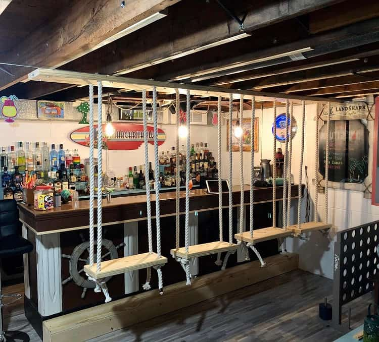 Bar Swings Unfinished Basement Ideas