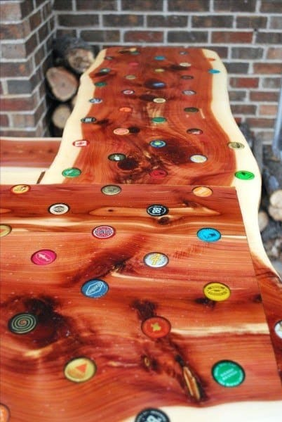 Bar Top Ideas Wood Bottle Cap