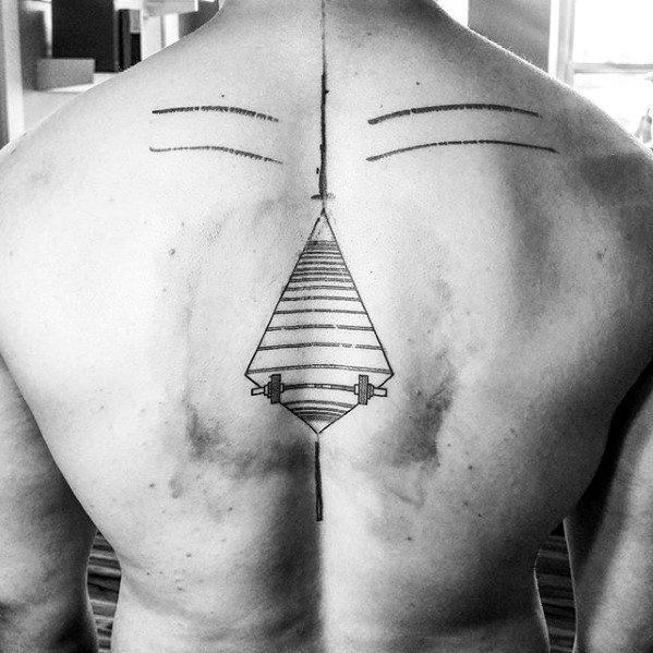 Barbell Mens Tattoo Designs